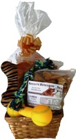 Order a dog gift basket of All Natural Dog Biscuits Now